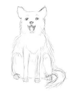 Inktober Day 6: Husky