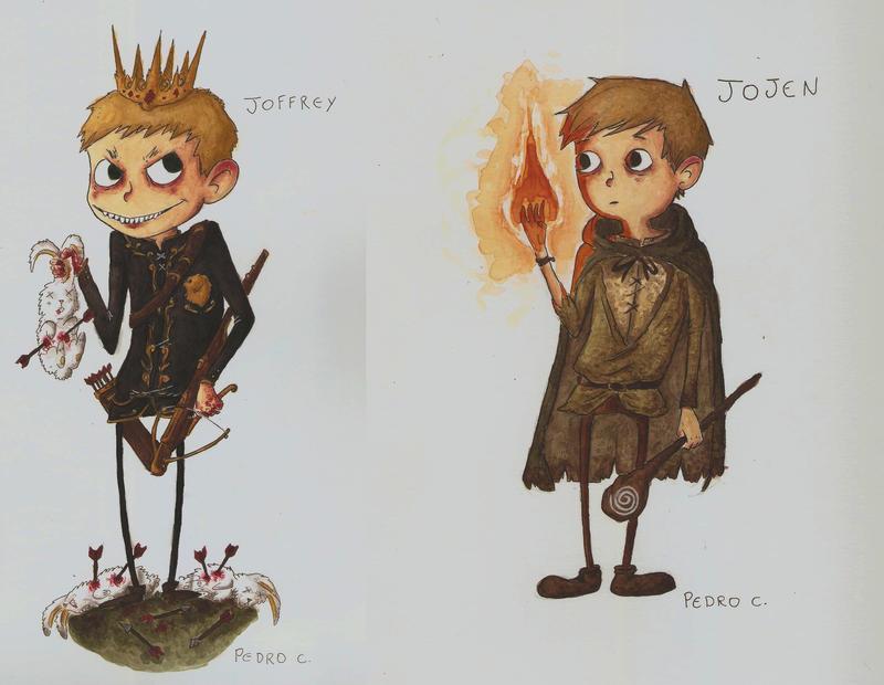 Joffrey and Jojen by caracolescente