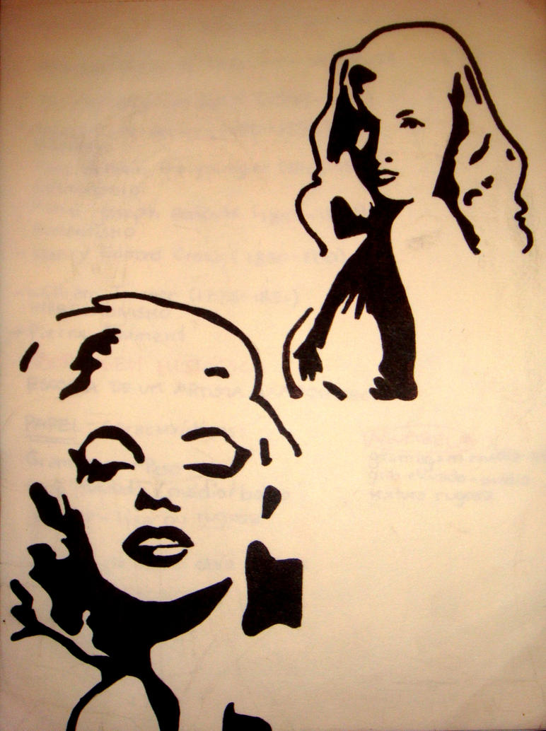 marilyn and veronica stencil by dianna7 on DeviantArt