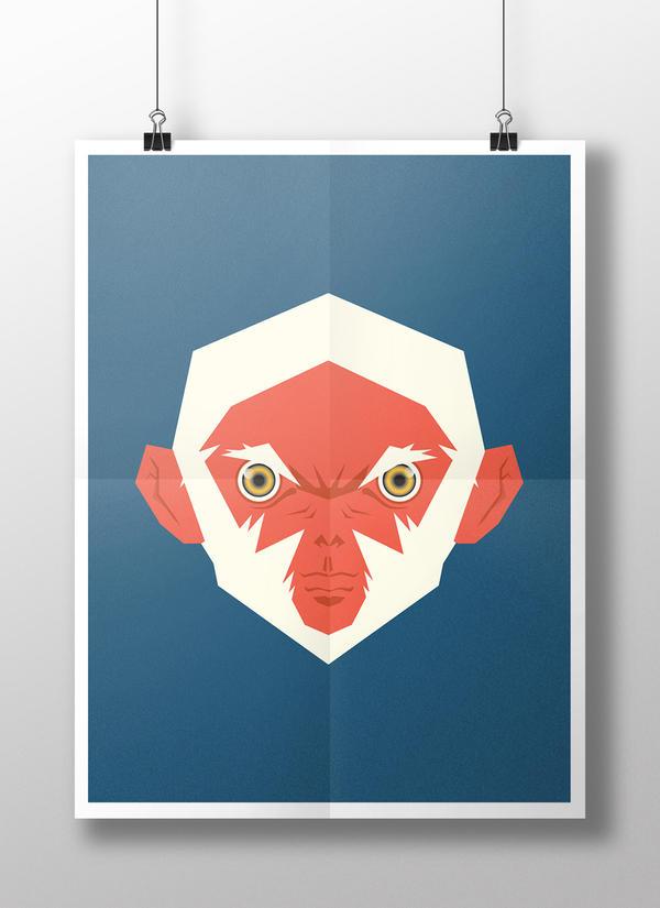 poster mockup MD Albinos Apes Fury by Kaikaikiki