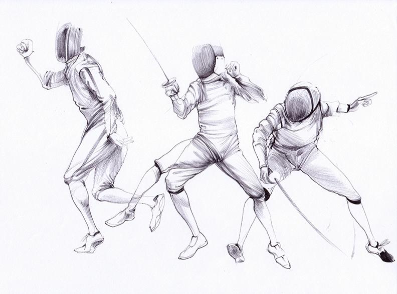 Ballpoint Fencing 01W by Kaikaikiki