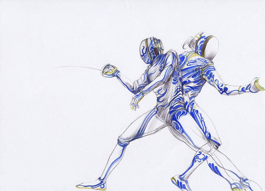 Ballpoint Fencing 02W by Kaikaikiki