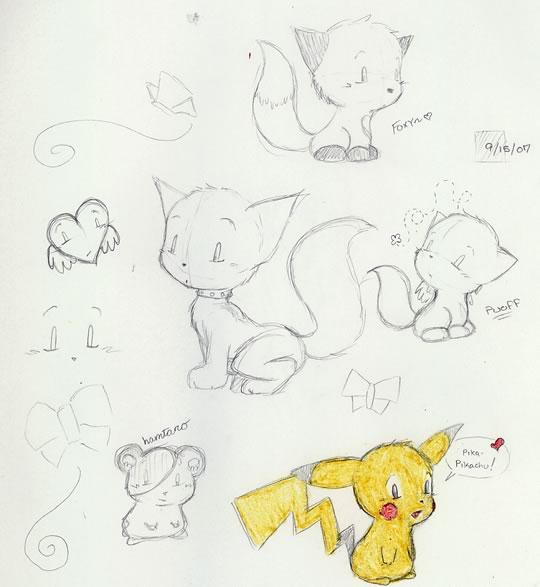 Random cute doodles by zombiepencil on deviantart for Random cute drawings