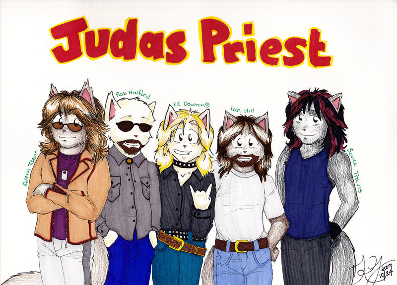Judas Priest Kitties by zombiepencil