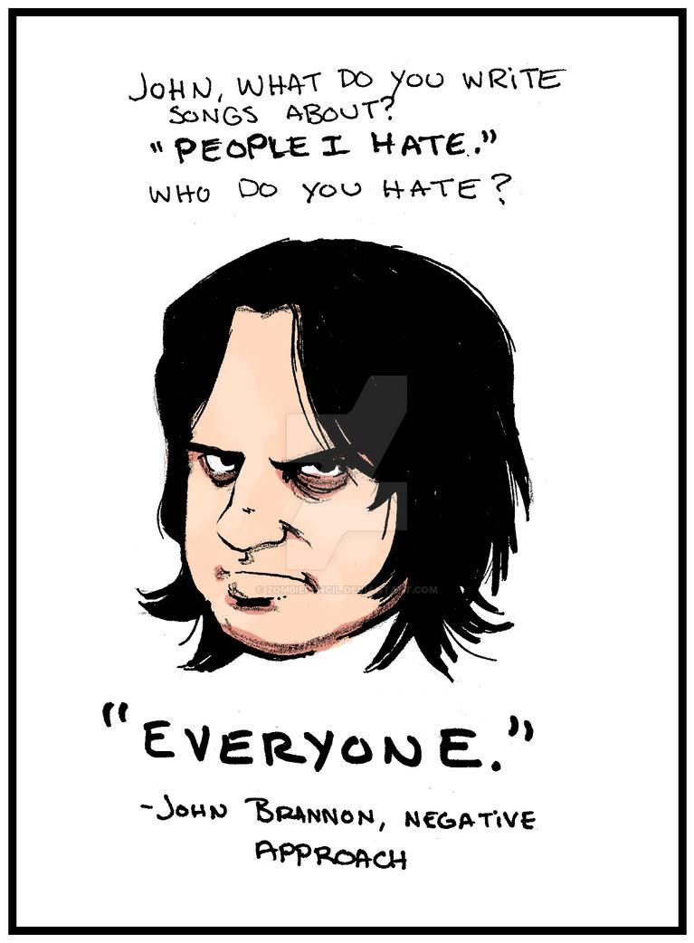 John Brannon by zombiepencil