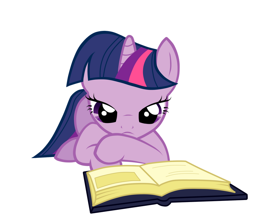 Reading Twilight by fluttershy7