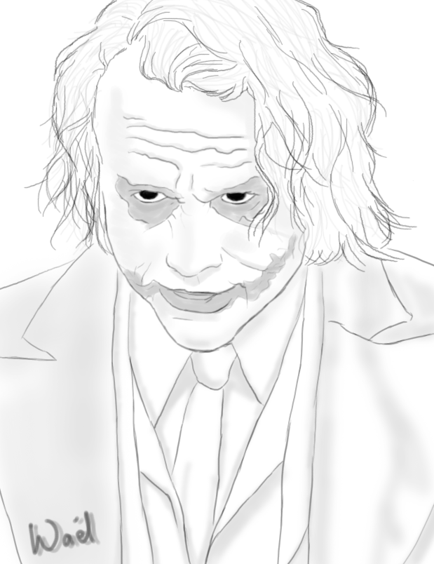 The Joker Line Art : Easy draw joker suicide squad sketch coloring page