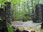 Stone Ruins on a cloudy day