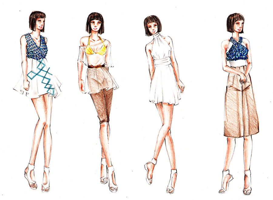 The gallery for --u0026gt; Casual Dresses Sketches Design