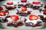 Chocolate Ganache Filled Star Cookies