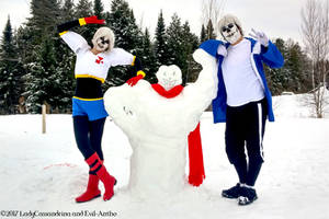 Papyrus and Sans Cosplay - CHILLING IN SNOWDIN~ by Cassandrina