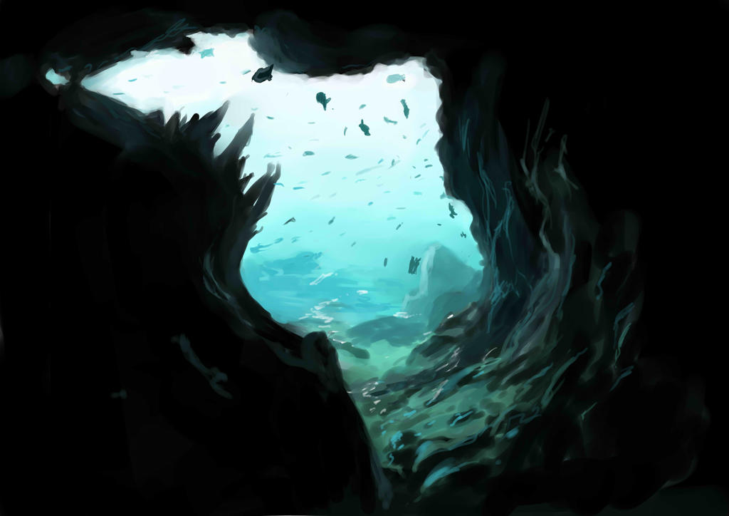Underwater cave by Sokkhue on DeviantArt
