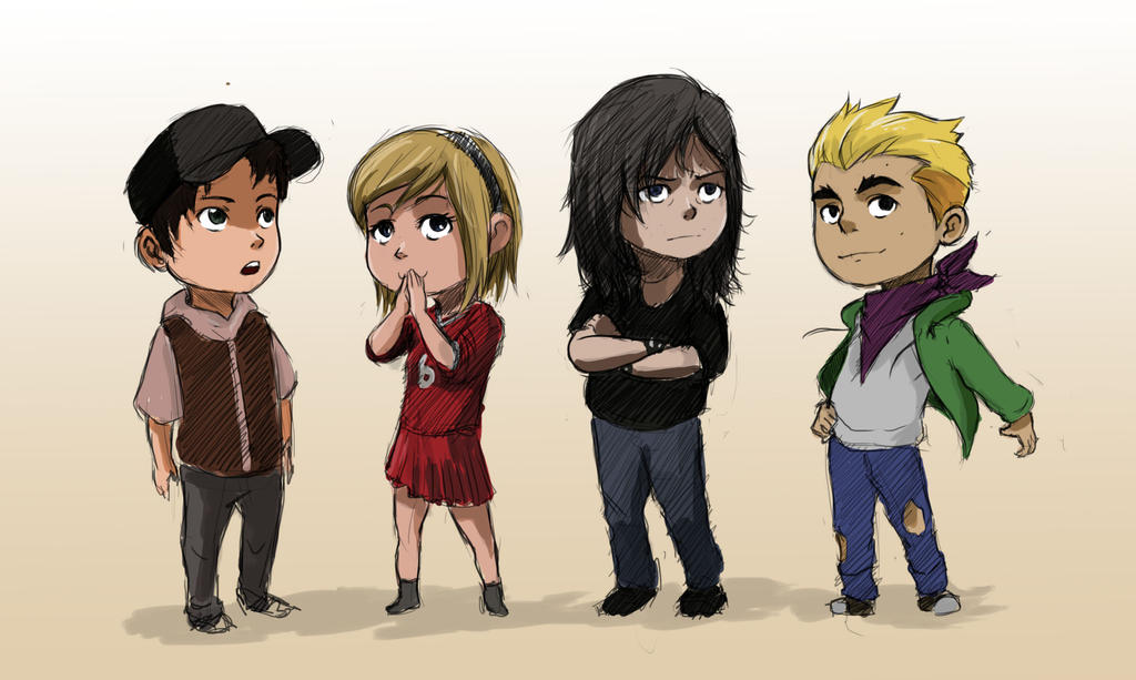 Chibis of the dead by Sokkhue