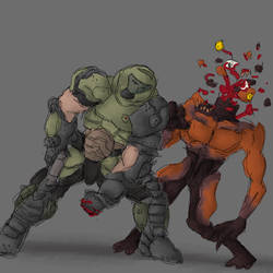 Doom punch by renato8881