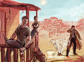 SPN: Boys at Bobbys' by Jade-Magic