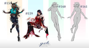Set price : YCH #158-161 [OPEN]
