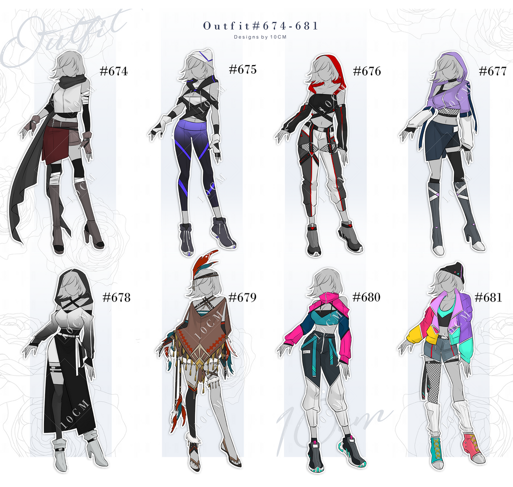 Auction : OUTFIT #674-681 [OPEN]