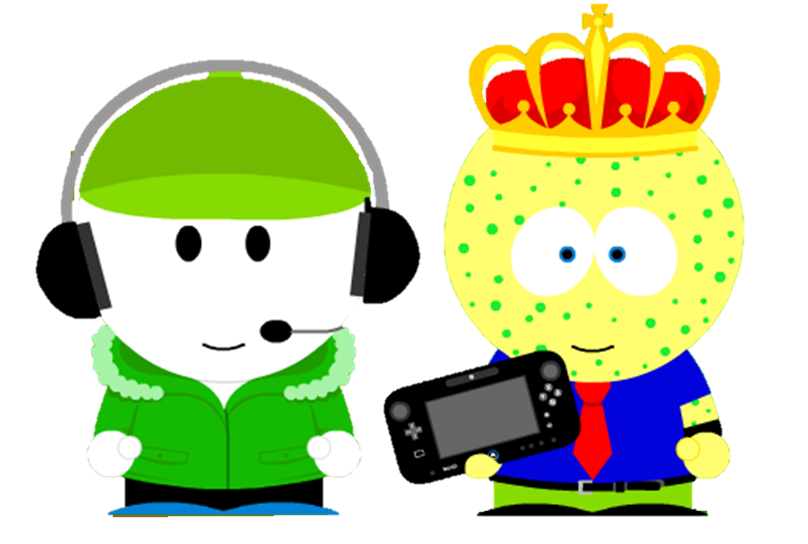 Bready and Spongecat1 (South Park-Styled) by Spongecat1