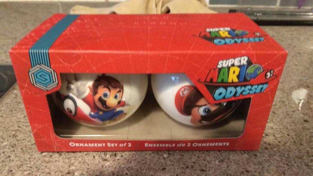 Super Mario Odyssey Ornements by Spongecat1