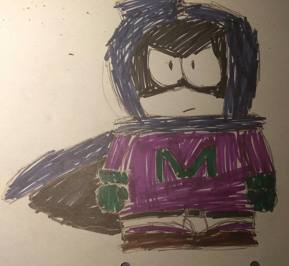 [T]: Mysterion Drawing by Spongecat1