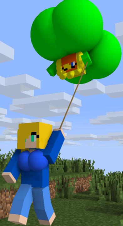 [MI-G]: My Flower Butt and Boob-loon by Spongecat1