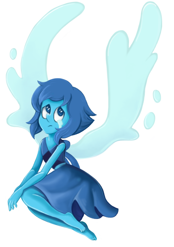 Lapis Lazuli of Steven Universe. Based on Pearl's rendition of Aquamarine. Original and progress shots: hageicons.tumblr.com/post/1757…