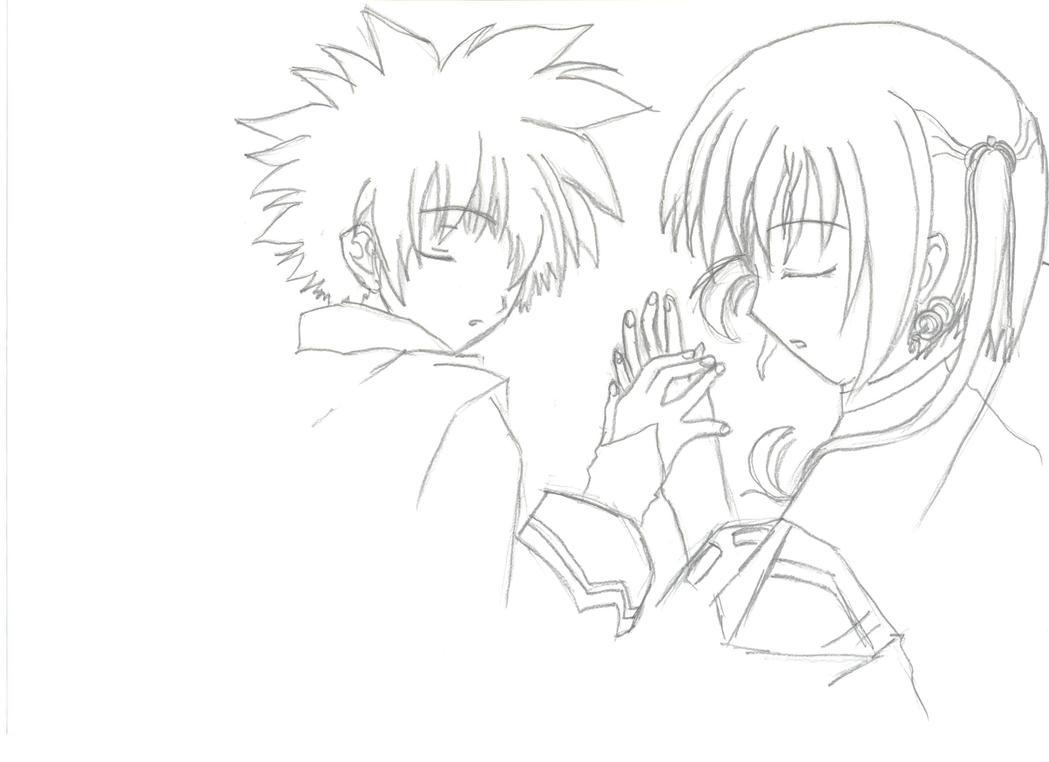 animes holding hands b...