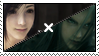 Tifa x Sephiroth Stamp by Sasurina