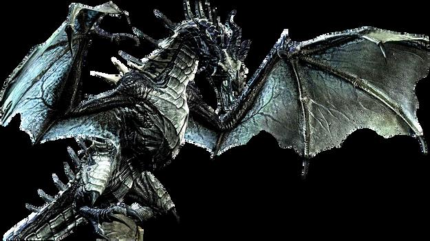 Skyrim dragon icon by SlamItIcon