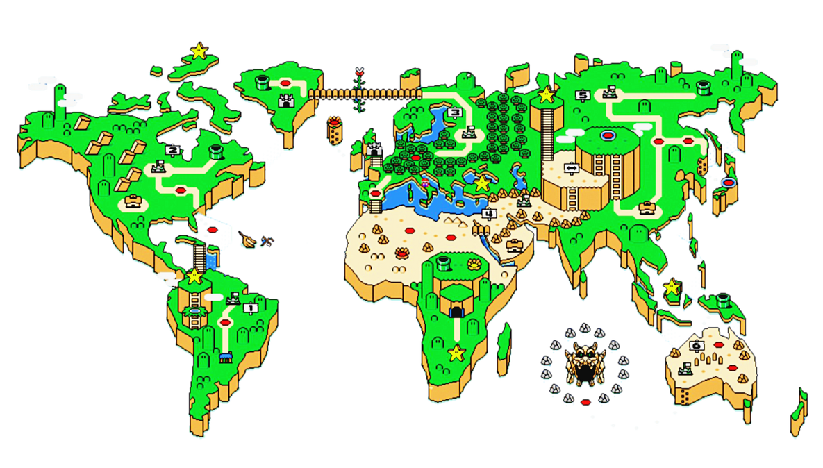 Mario world map icon by slamiticon on deviantart mario world map icon by slamiticon gumiabroncs Image collections