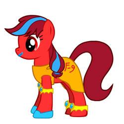 Flaming Rougella Pony