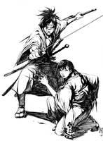 blade of immortal fanart by hendryzero