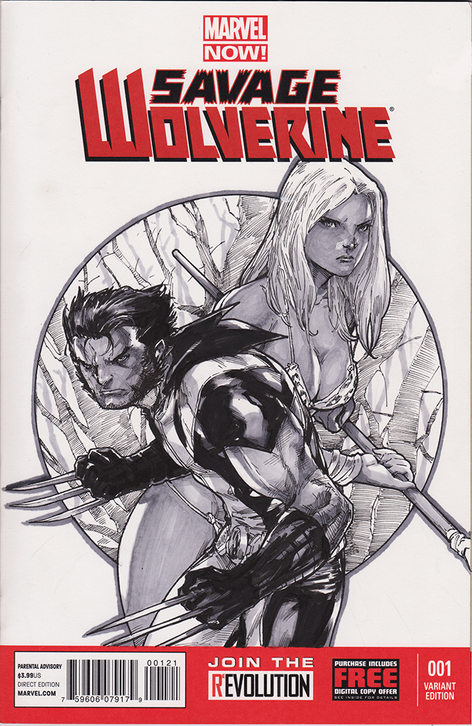 savage wolverine blank cover by hendryzero