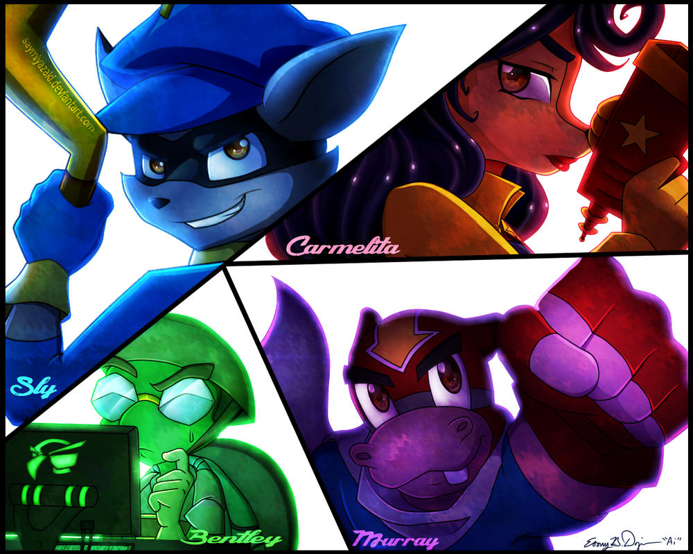 Commission: Sly Cooper and Company by Sayamiyazaki