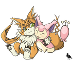 Meicoomon and Skitty