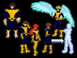YJ X-men redesigned premiere suits by MOMOpJonny