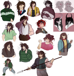 SYN: a field of 30 ghost boys by pepolii