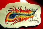 Phoenix feather tattoo design