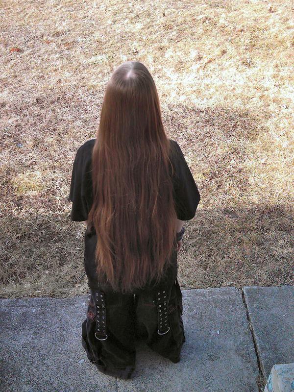 how to cut my long hair myself