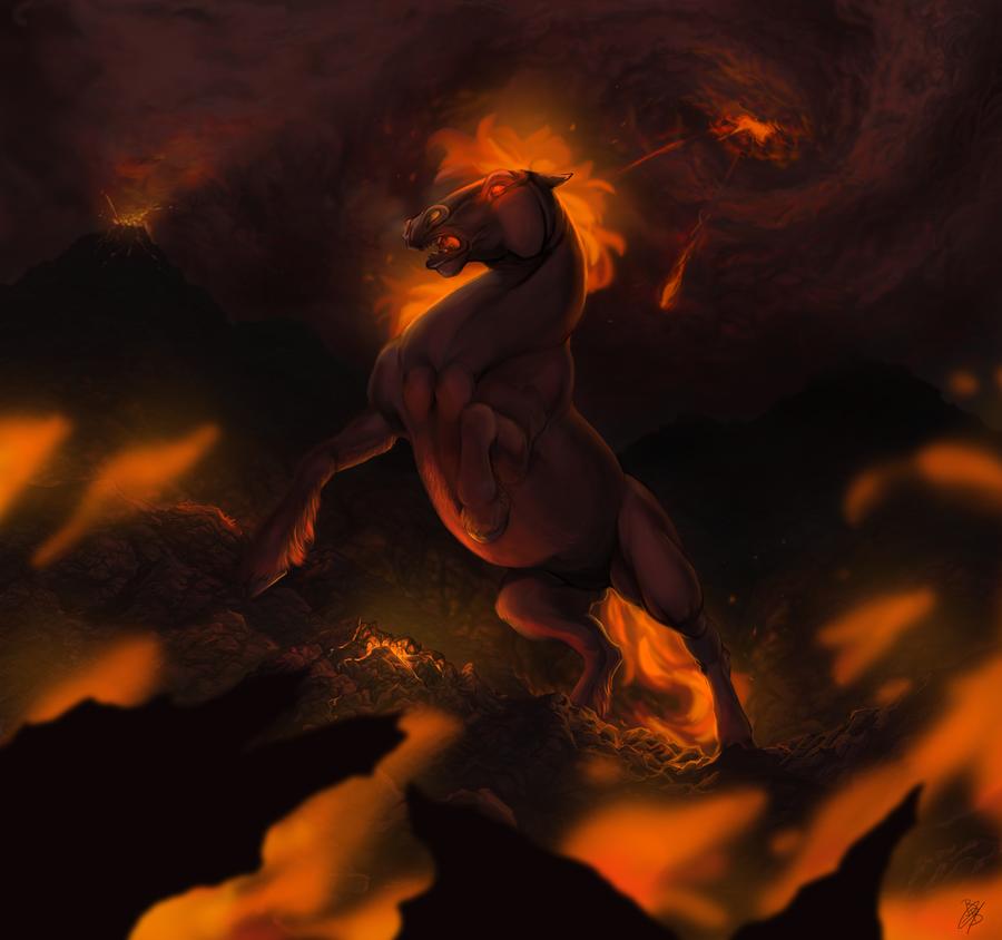 Fire horse by blackby on deviantart