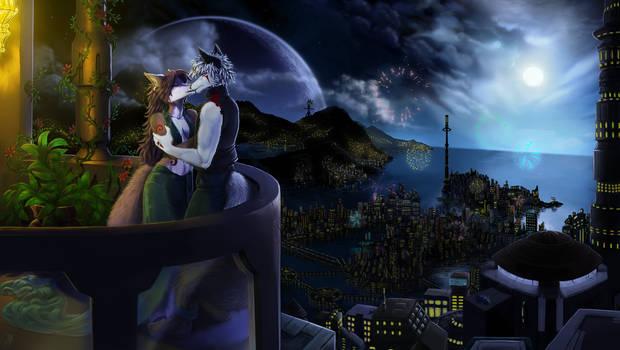 Raphial and Avala's romantic scene
