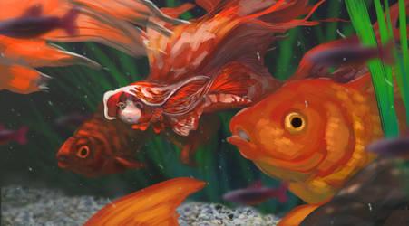 Goldfish Mermaid - Mermay Challenge 2018