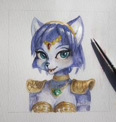Krystal first watercolor portrait