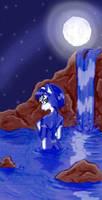 Krystal's midnight bath