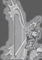 Krystal is playing harp 1 by BlackBy