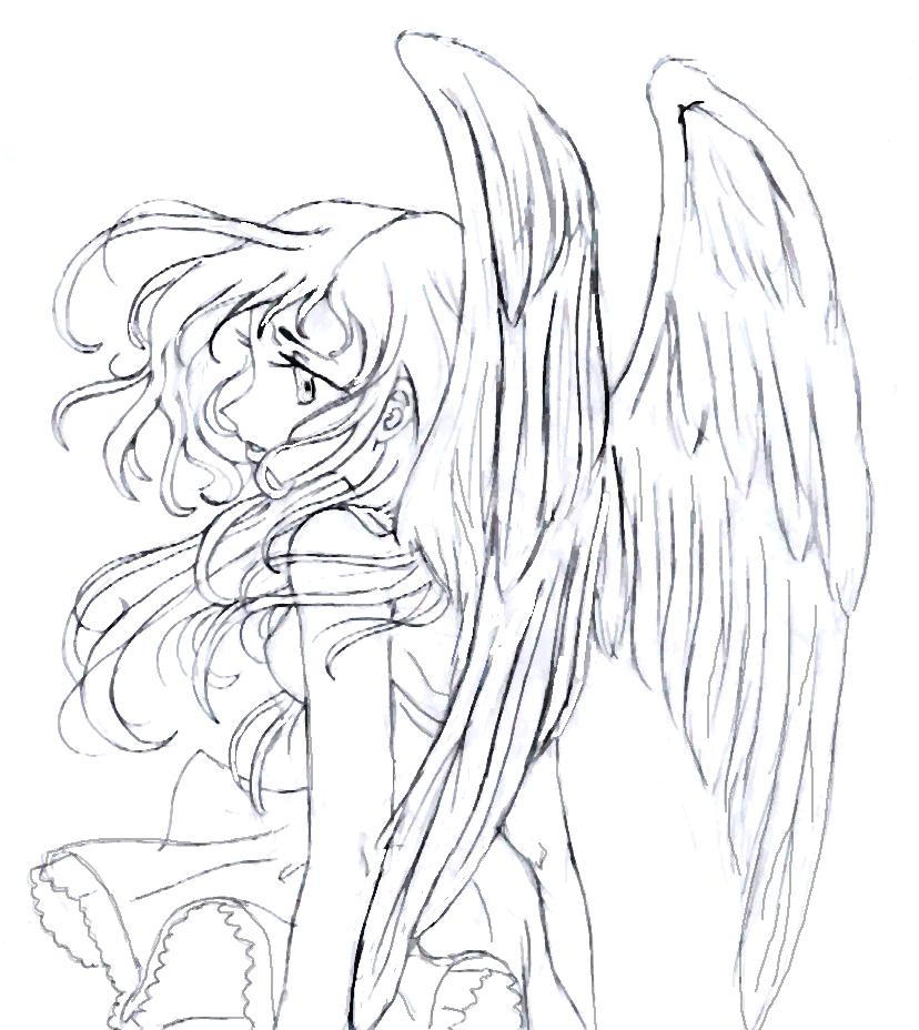 anime coloring pages angels - photo#23