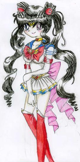 Current Maya as Sailor Moon by GreenTeaDeer