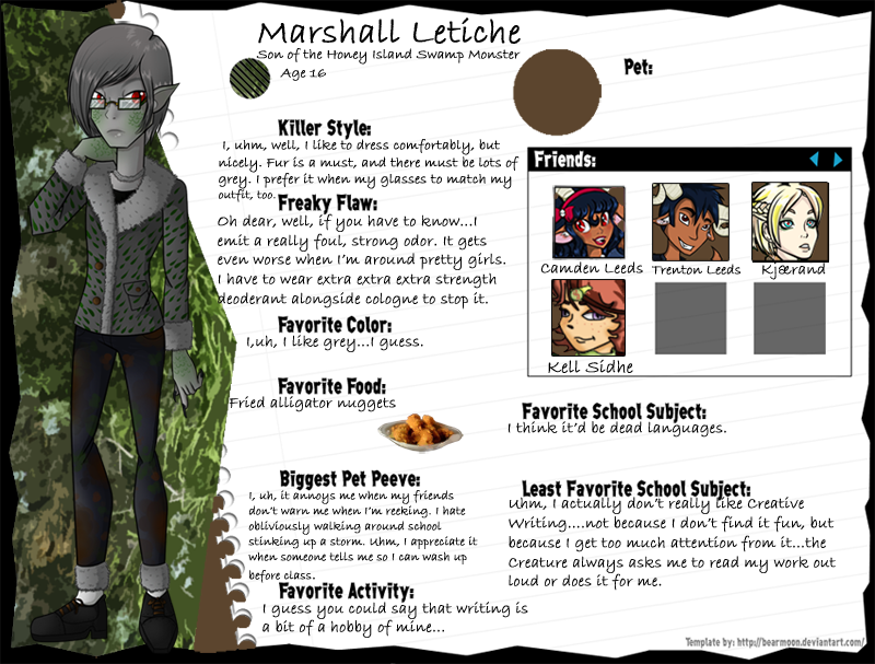 Marshall Letiche by GreenTeaDeer