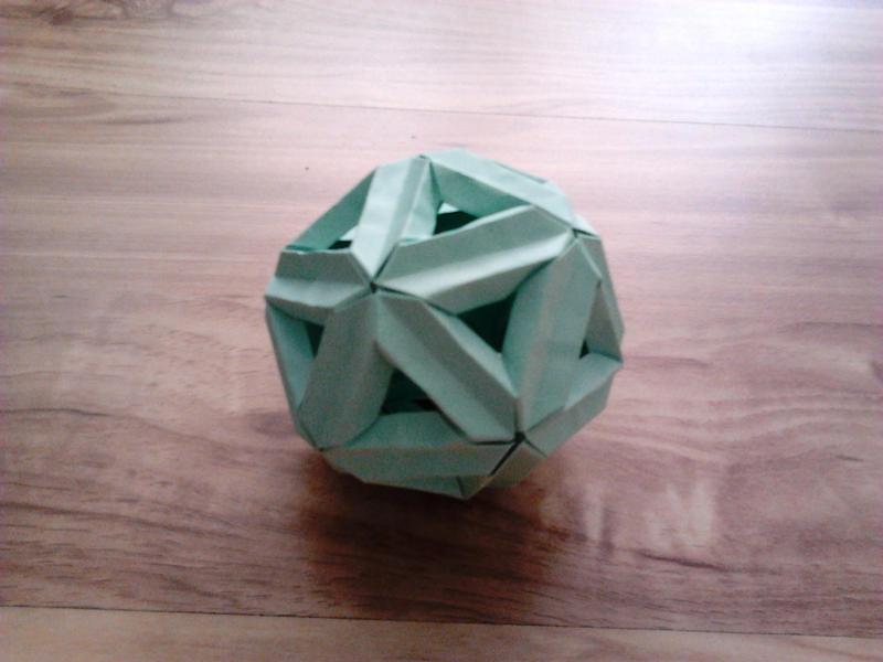 origami icosahedron by minaret123 on deviantart