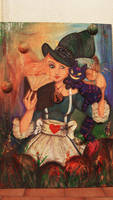 Alice- Painting Flowers
